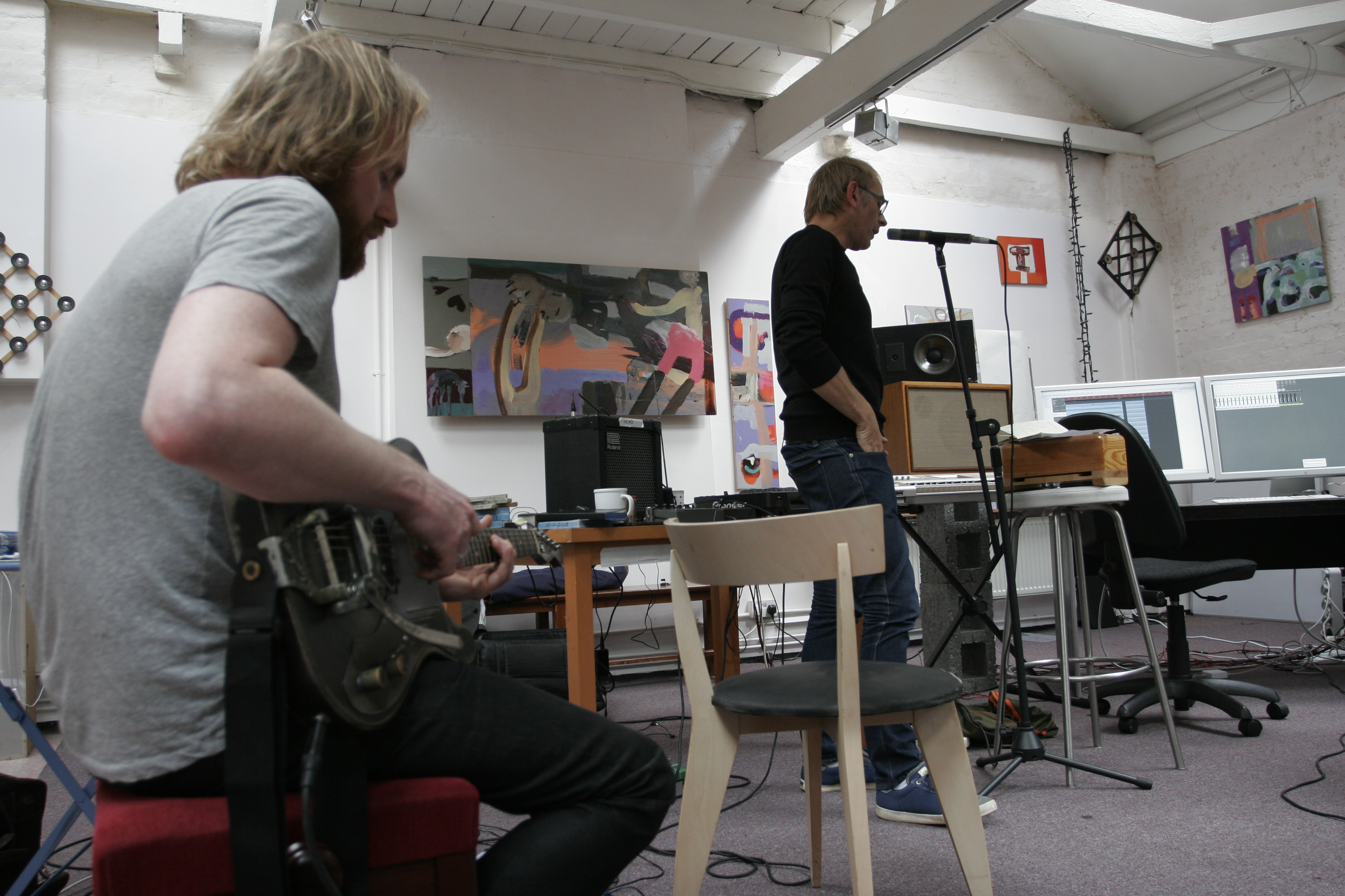 Brian Eno and Karl Hyde: Recording Someday World Picture Gallery (Part 4)